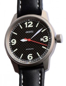 Aristo 5H80 Fliegeruhr ETA Automatic - Carbon