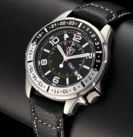 Detomaso SL1505D-BK Radar Black GMT Herrenuhr