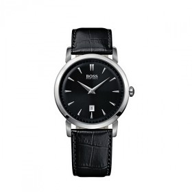 Hugo Boss Black Herrenuhr Ultra Slim Round schwarz 1512637
