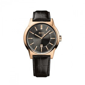 Boss Herrenuhr rose-gold Architecture Round 1513073