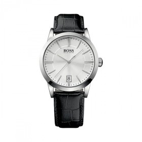 Hugo Boss Herrenuhr Analog Quarz Leder 1513130