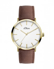 s.Oliver Armbanduhr SO-3103-LQ IP-Gold poliert