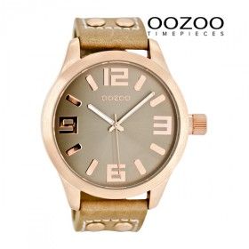 OOZOO Basic XL Damenuhr C1151 sand-rose