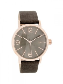 Oozoo Damenuhr rose`C7578 brown grey