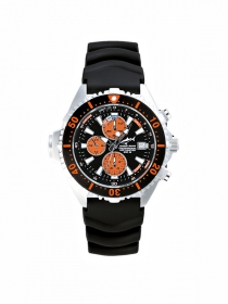 Chris Benz Depthmeter Chronograph 200M Taucheruhr korallenorange