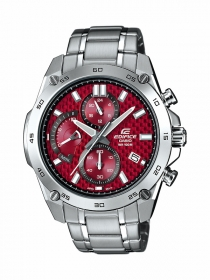Casio Edifice EFR-557D-4AVUEF Chronograph rot Metallarmband