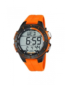 Calypso Digitaluhr Herren K5607/1 schwarz-orange