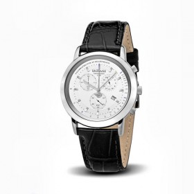 Dr.House Damenuhr Chronograph stahl-weiss
