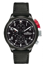 Thunderbirds Fliegeruhr Black Edition XL Chrono TB1088